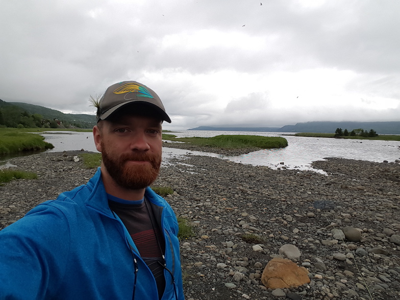 June 2017: Matt Josephson searches for blackspotted sticklebacks in Newfoundland, Canada.