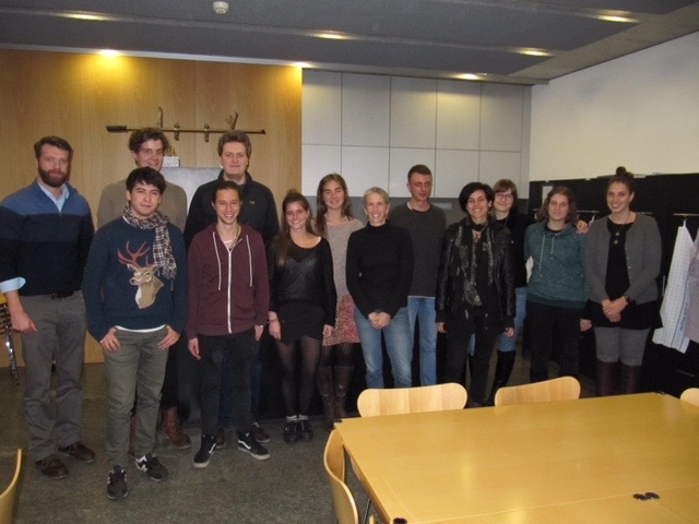 2016 Evolutionary Ecology Research Practical Students